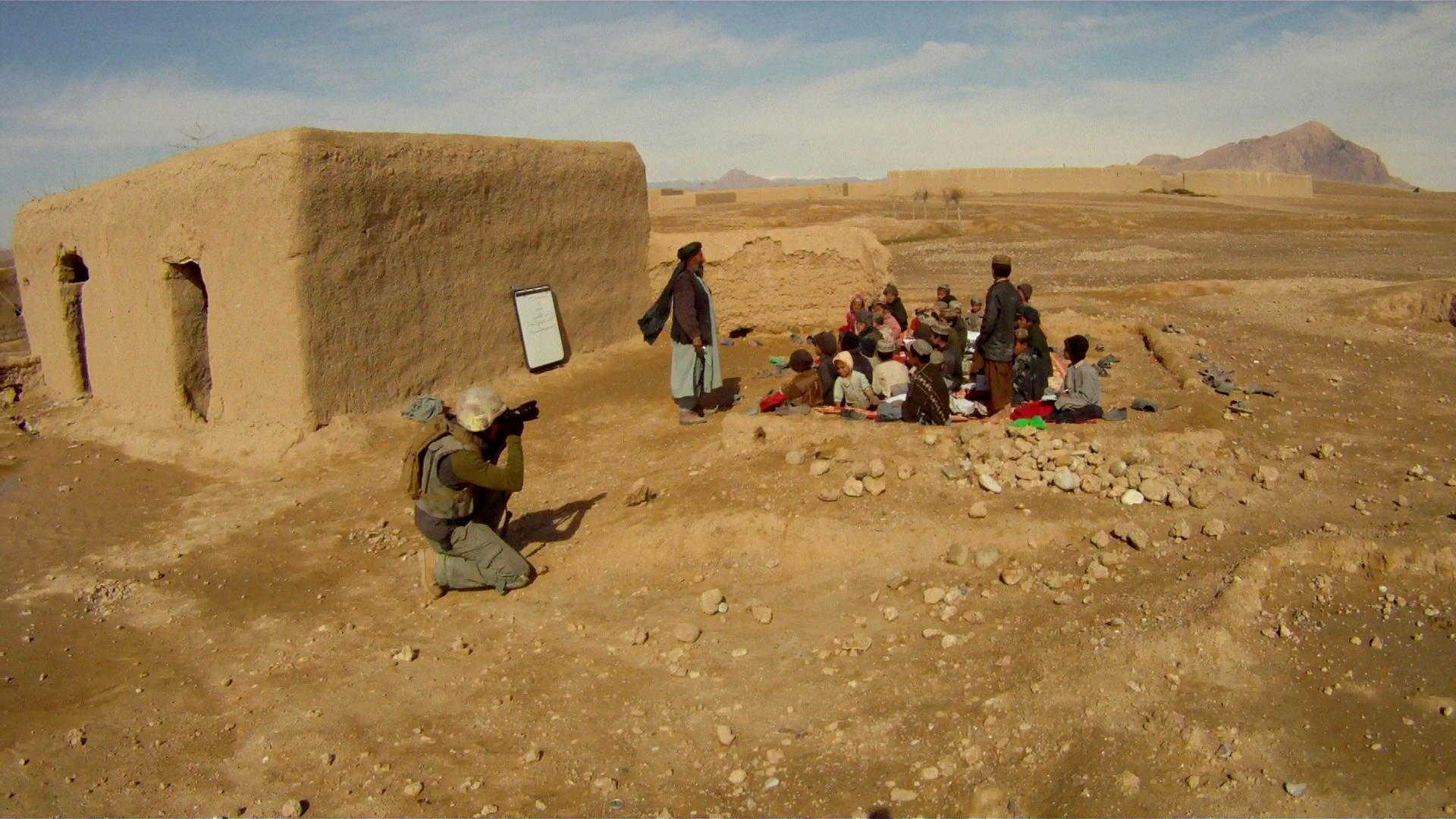 Finbbarr O'Reilly - class in Afghanistan